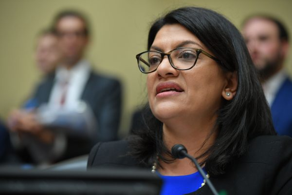 Rep. Rashida Tlaib in the Rayburn House Office Building on Capitol Hill