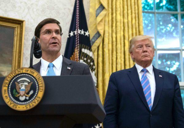 mark esper donald trump defense secretary