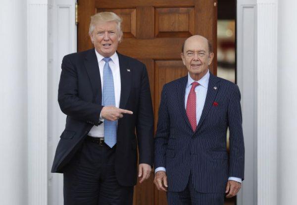 Donald Trump and Wilbur Ross