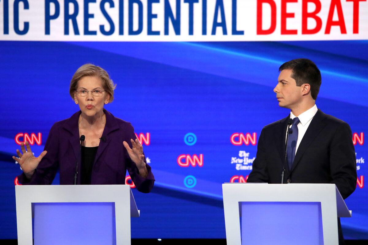 Democrats Pile on Warren Over Healthcare Costs During Debate