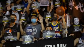 NBA Fans Wear 'Stand With Hong Kong' and 'Free Tibet' Shirts to Nets Game