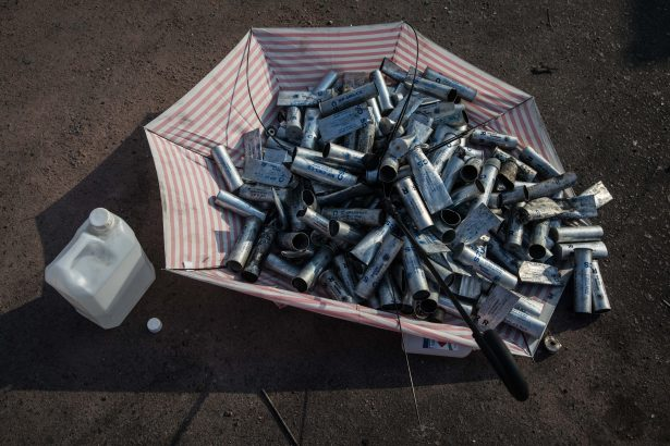 Used tear gas canisters