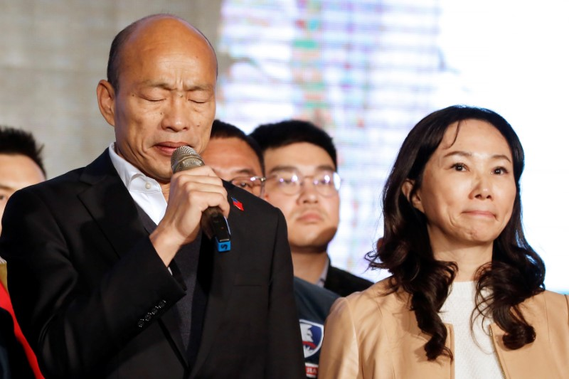 Kuomintang party's presidential candidate Han Kuo-yu
