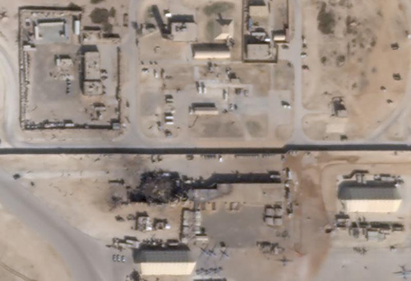 new damage at Al Asad air base in Iraq