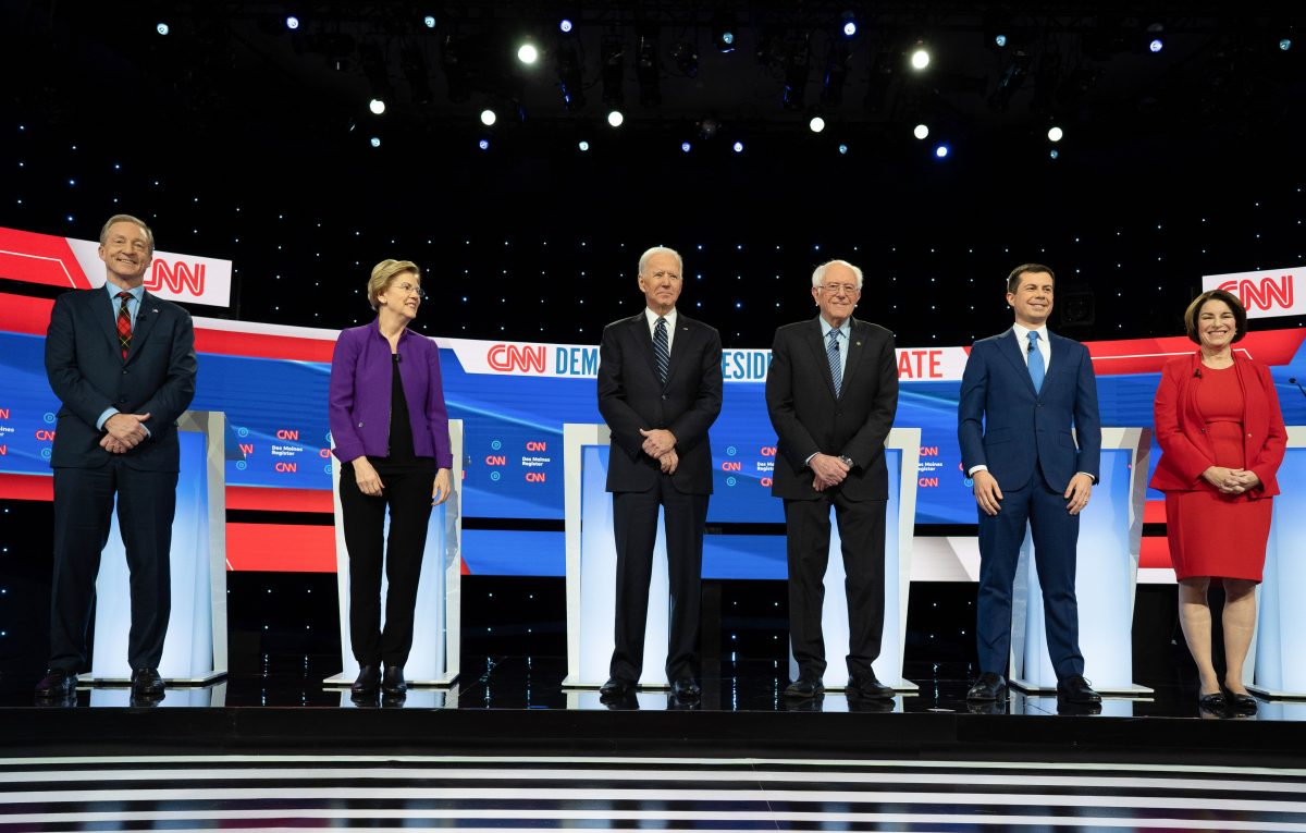 Candidates on debate stage