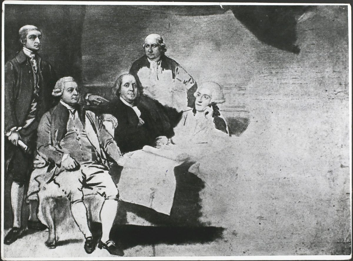 The American Peace Commissioners negotiating the Peace of Paris