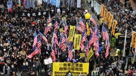 More Than a Million Hongkongers Celebrate New Year's Day by Taking to Streets to Renew Their Demands
