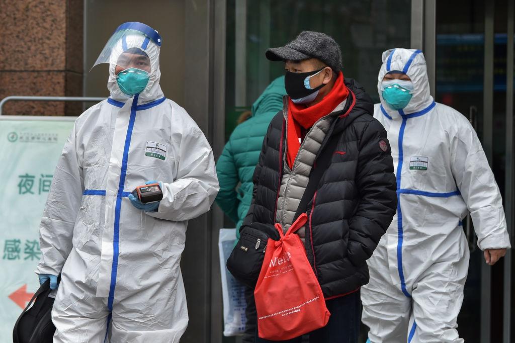 Medical staff wearing clothing