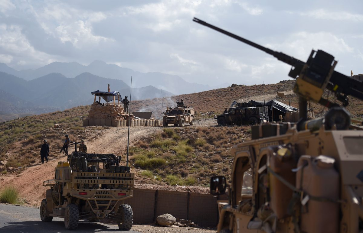 U.S. Army and Afghan commando forces