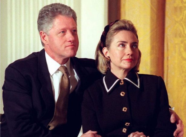 President Bill Clinton (L) and his wife Hillary