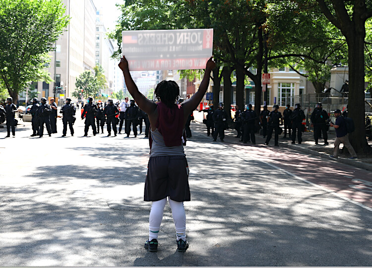 Police clear H Street and Black Lives Matter Plaza