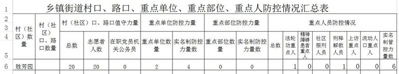 A document detailed the categories of people to be monitored in Beijing local apartment complex, Shenfan Garden. A total of 20 volunteers were available to monitor the target persons.