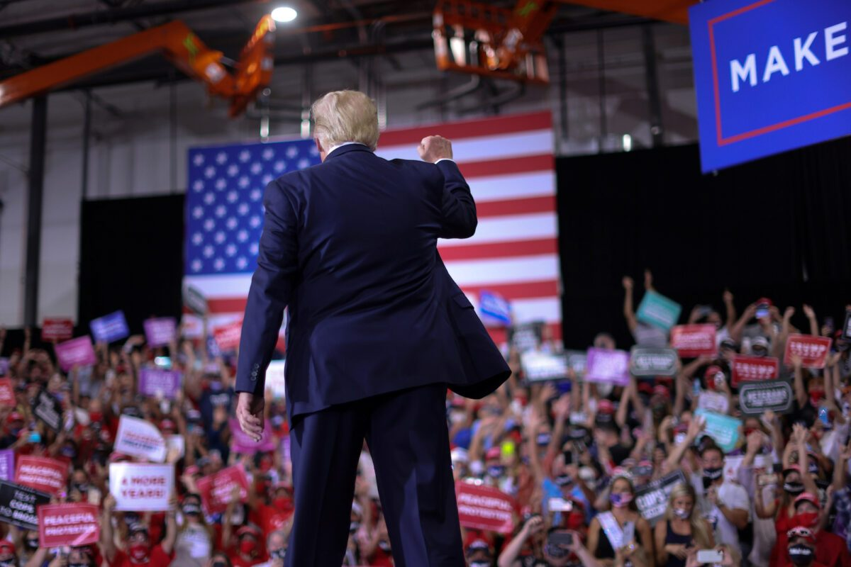 President Trump rallies with supporters