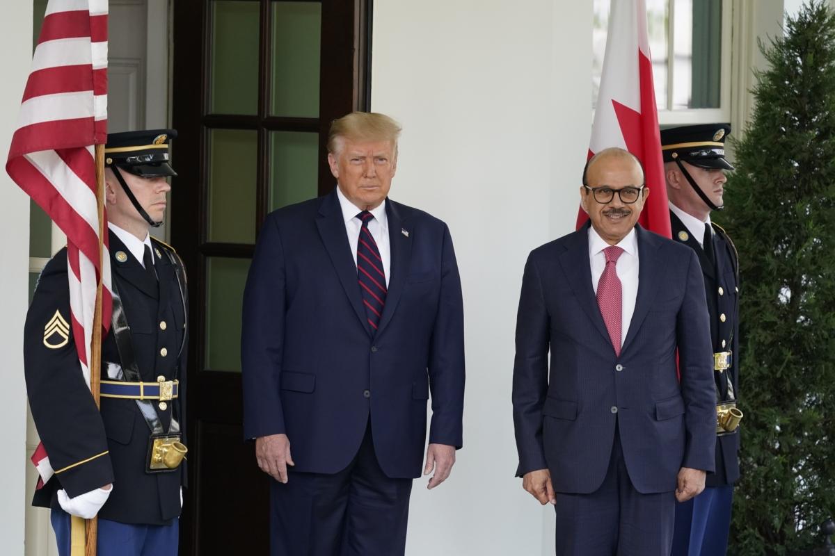 Trump and Khalid bin Ahmed Al Khalifa